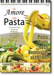 Pasta Party jeden Donnerstag ab 19°° Uhr