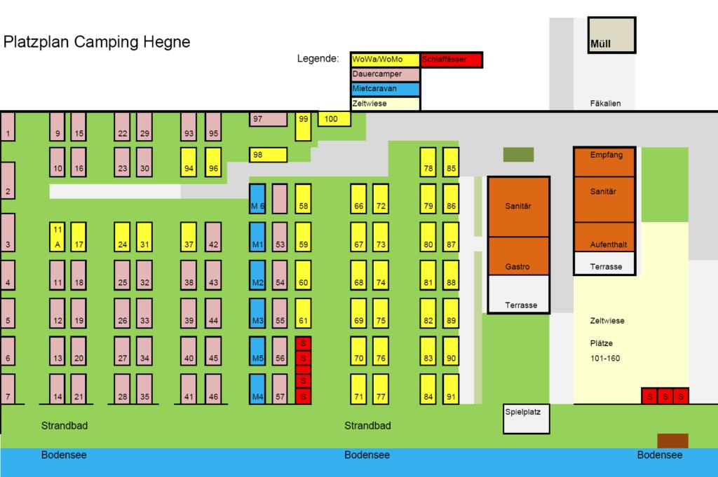 Camping Hegne Campeggio / Mappa