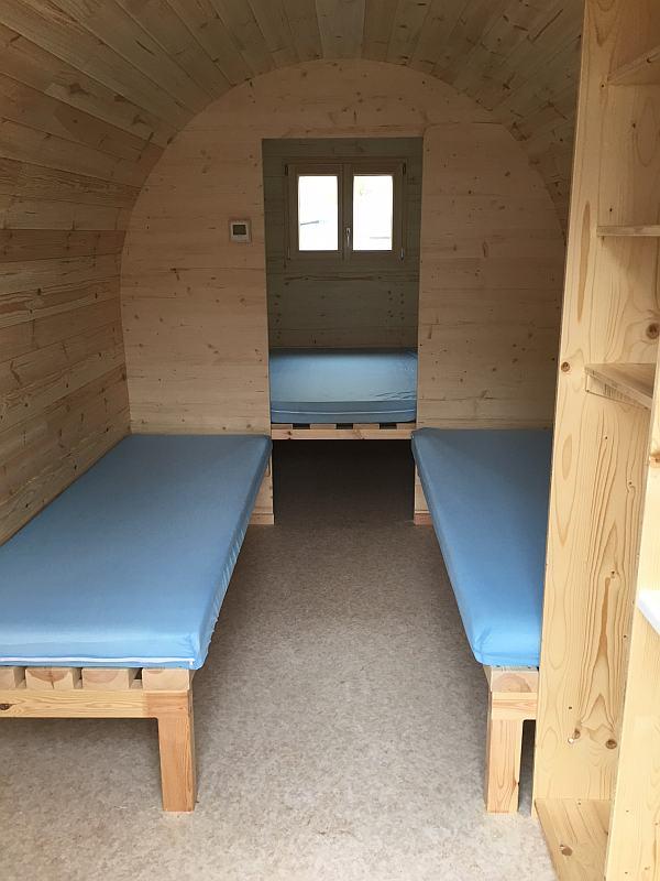Camping Hegne Schlaf Häusle Innenansicht